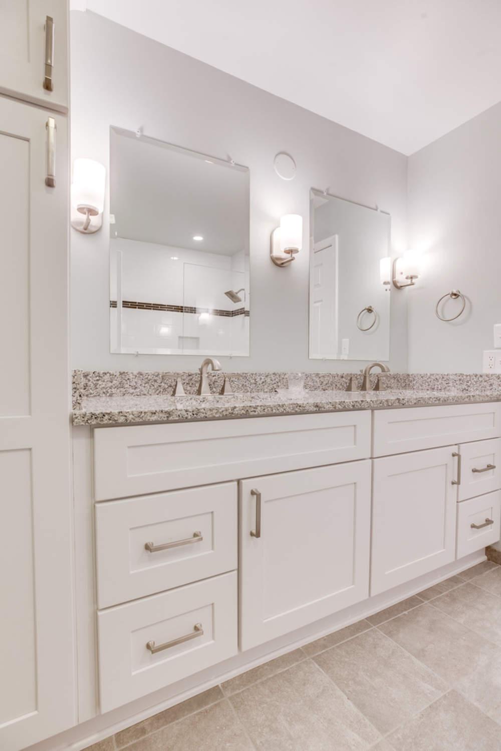 White Bathroom Design Fairfax, VA
